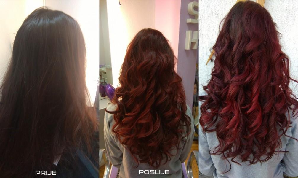 crvena bojanje kolor