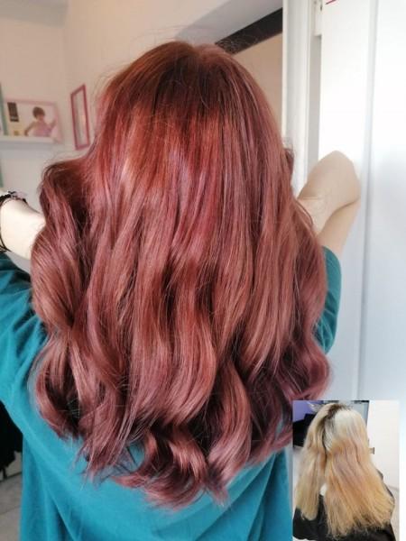 crvena farbanje frizura