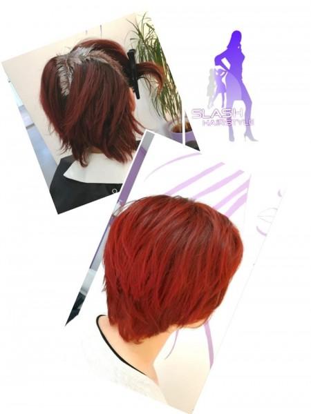 crvena kosa frizerski salon Slash Hairstyle